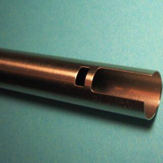 Laser cut tube slot and rectangular hole