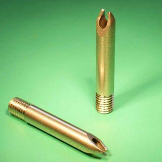 Precision turned & laser cut brass doughnut jammer component